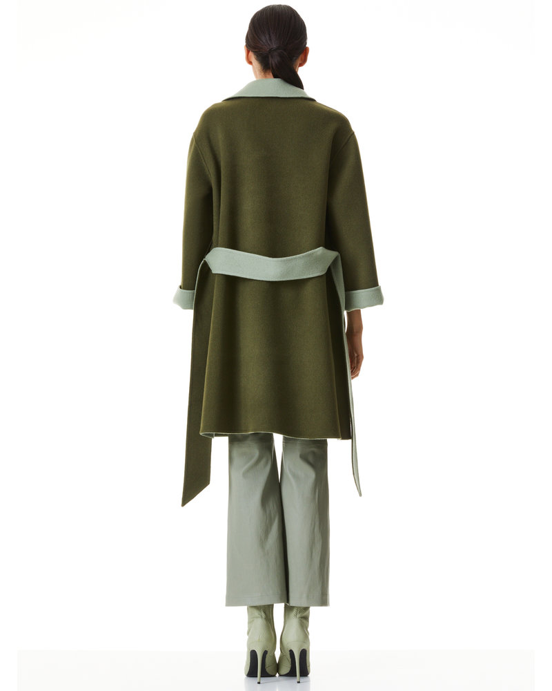 Alice + Olivia Tomiko Reversible Belted Coat