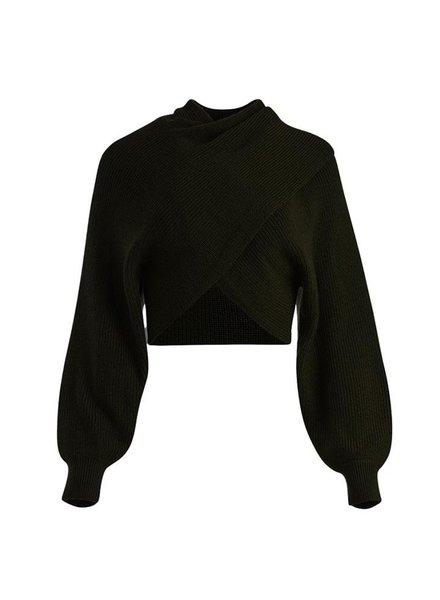 Alice + Olivia Mora Two Way Twist Pullover