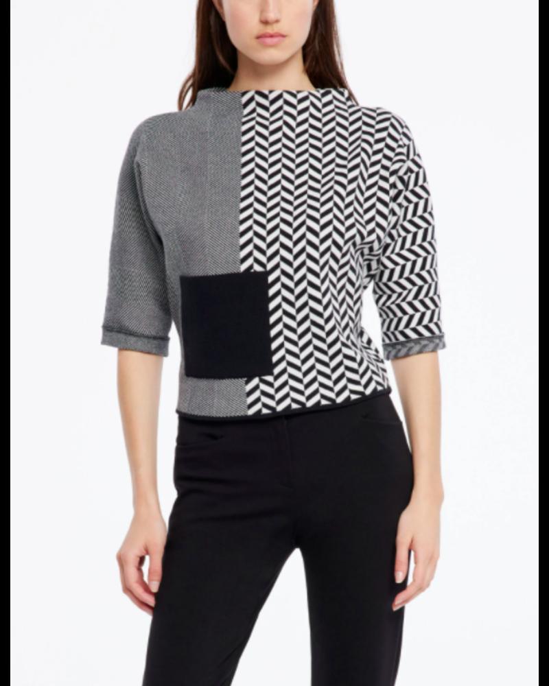 Sarah Pacini Mix Print Knit