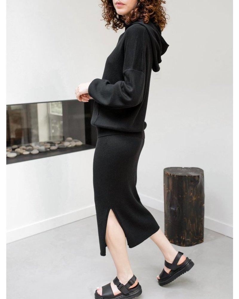 Paper Label Bo Rib Skirt