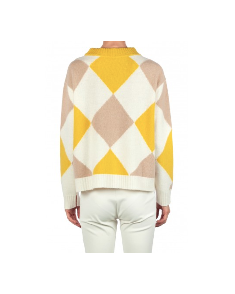 Liviana Conti Argyle Sweater