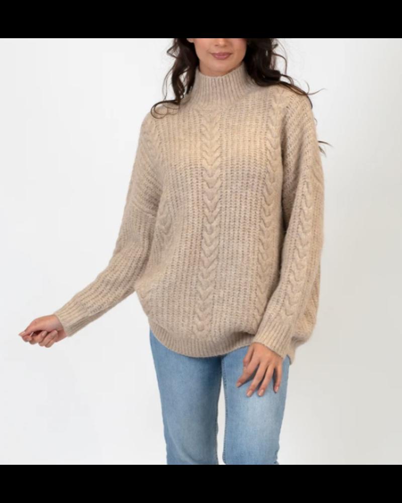 Julie Mock Neck Sweater