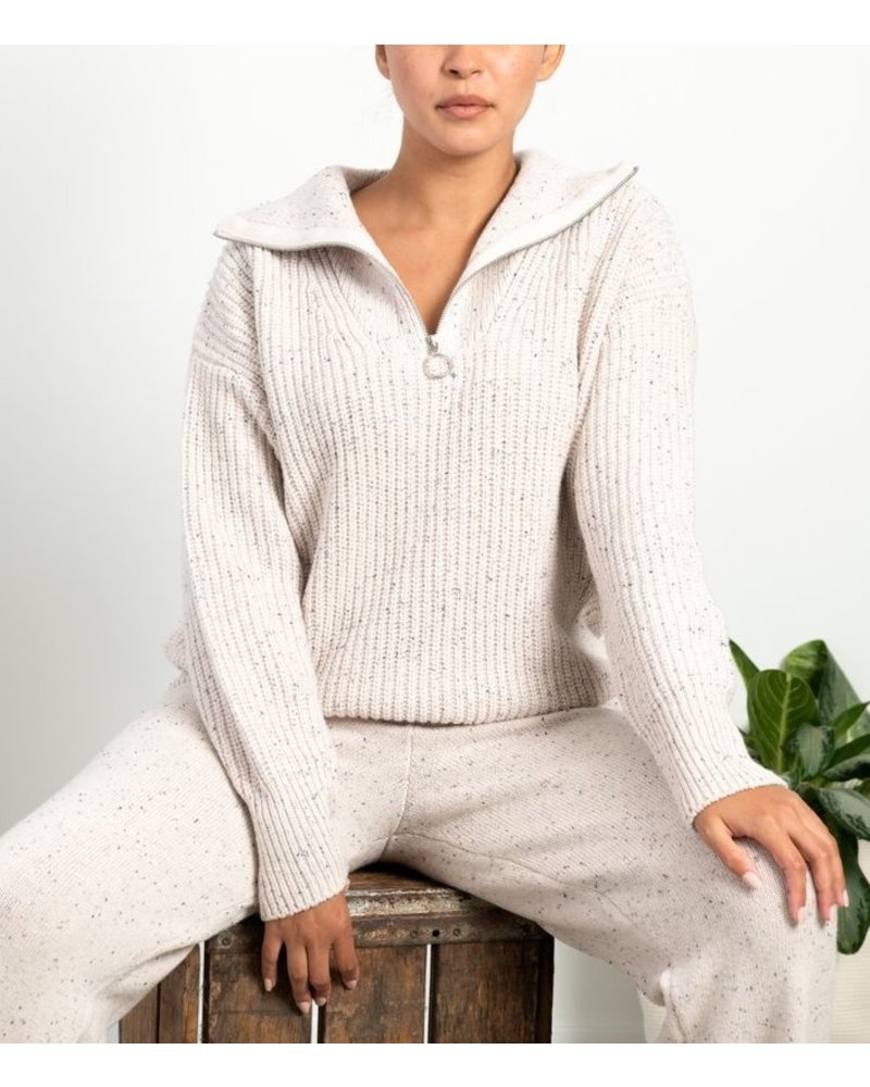 Paper Label Frances Half Zip Pullover