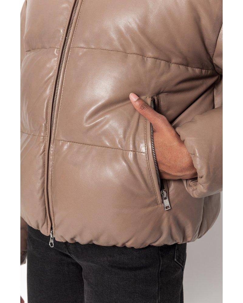 LAMARQUE Iris Leather Puffer Jacket