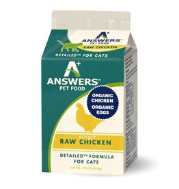 Answers Pet Food ANSWERS CAT DETAILED RAW CHICKEN 1LB CHUB