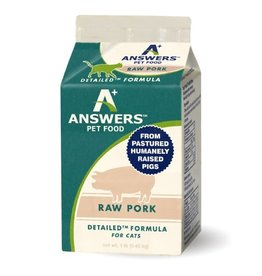 Answers Pet Food ANSWERS CAT DETAILED RAW PORK 1LB CHUB