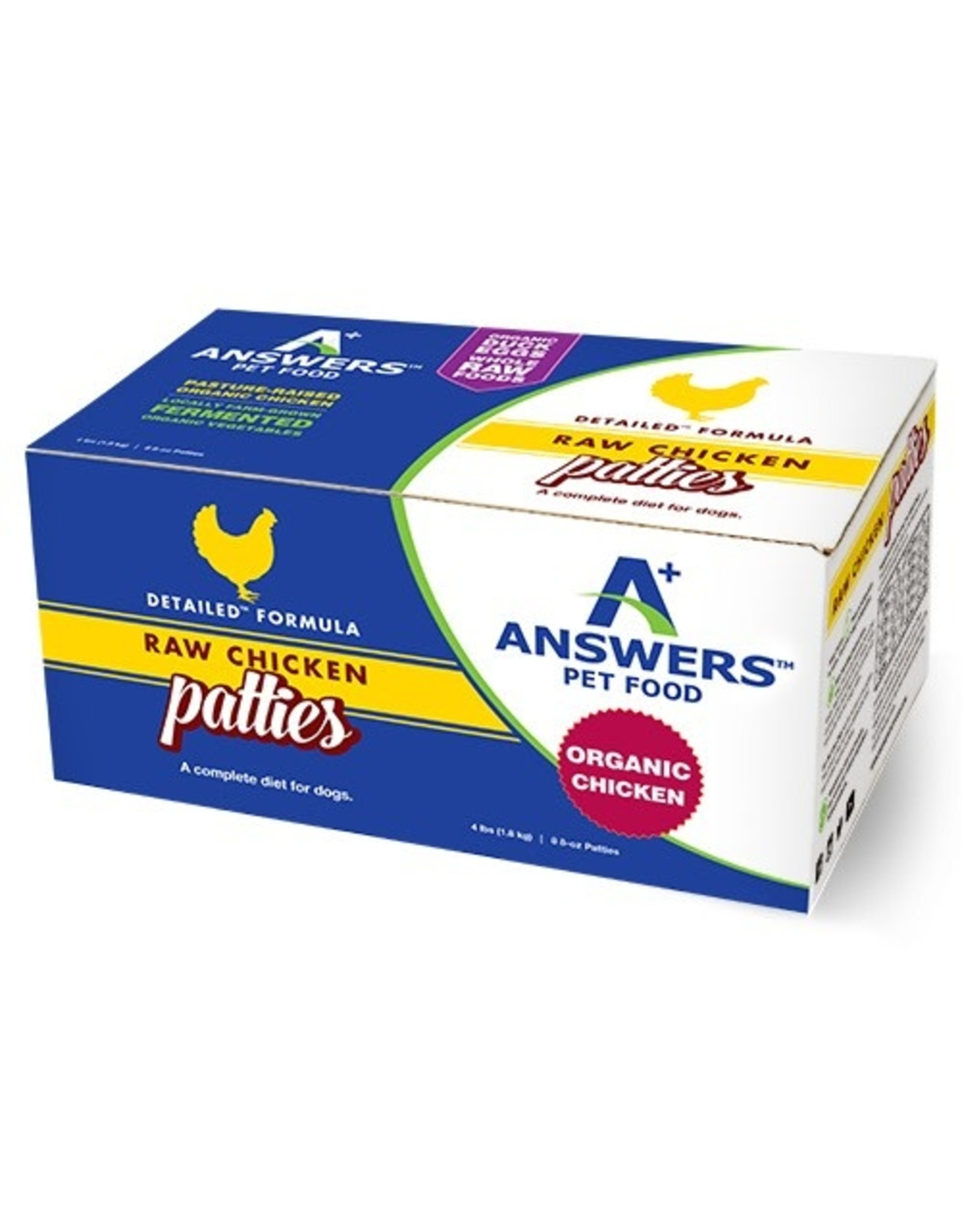 Answers Pet Food ANSWERS DOG DETAILED FORMULA RAW CHICKEN
