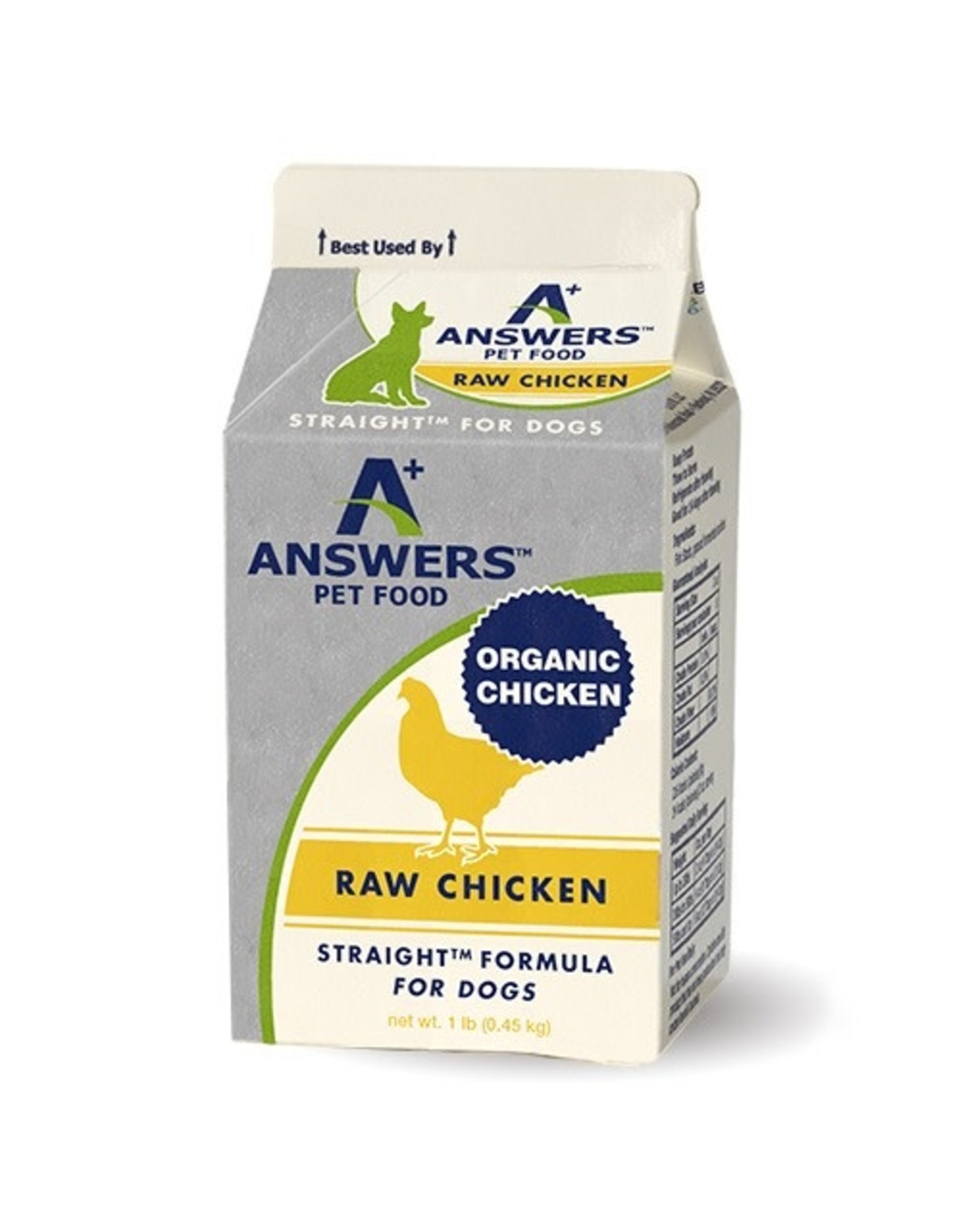 Answers Pet Food ANSWERS DOG STRAIGHT FORMULA RAW CHICKEN