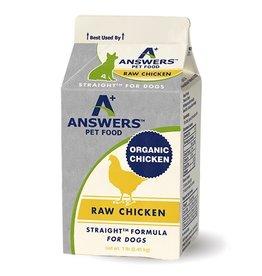 Answers Pet Food ANSWERS DOG STRAIGHT FORMULA RAW CHICKEN