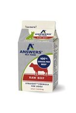 Answers Pet Food ANSWERS DOG STRAIGHT FORMULA RAW BEEF