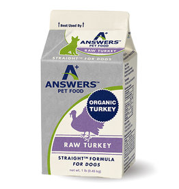 Answers Pet Food ANSWERS DOG STRAIGHT FORMULA RAW TURKEY
