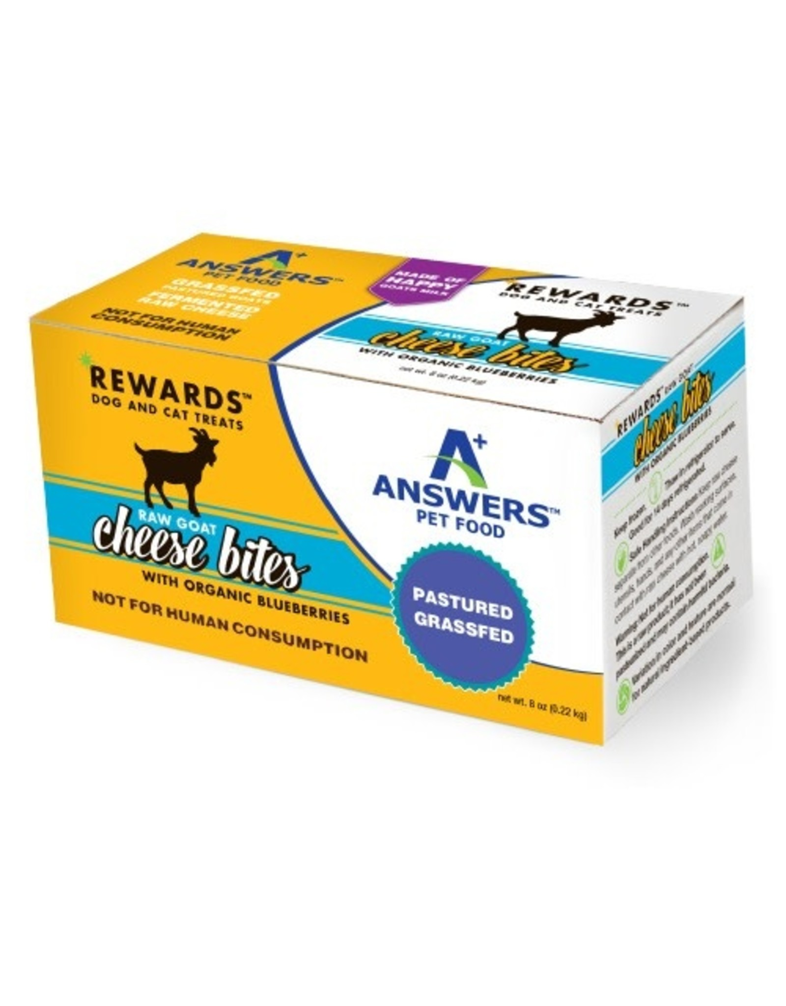 Answers Pet Food ANSWERS RAW GOAT CHEESE BITES WITH ORGANIC BLUEBERRIES 8OZ