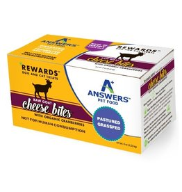 Answers Pet Food ANSWERS RAW GOAT CHEESE BITES WITH ORGANIC CRANBERRIES 8OZ