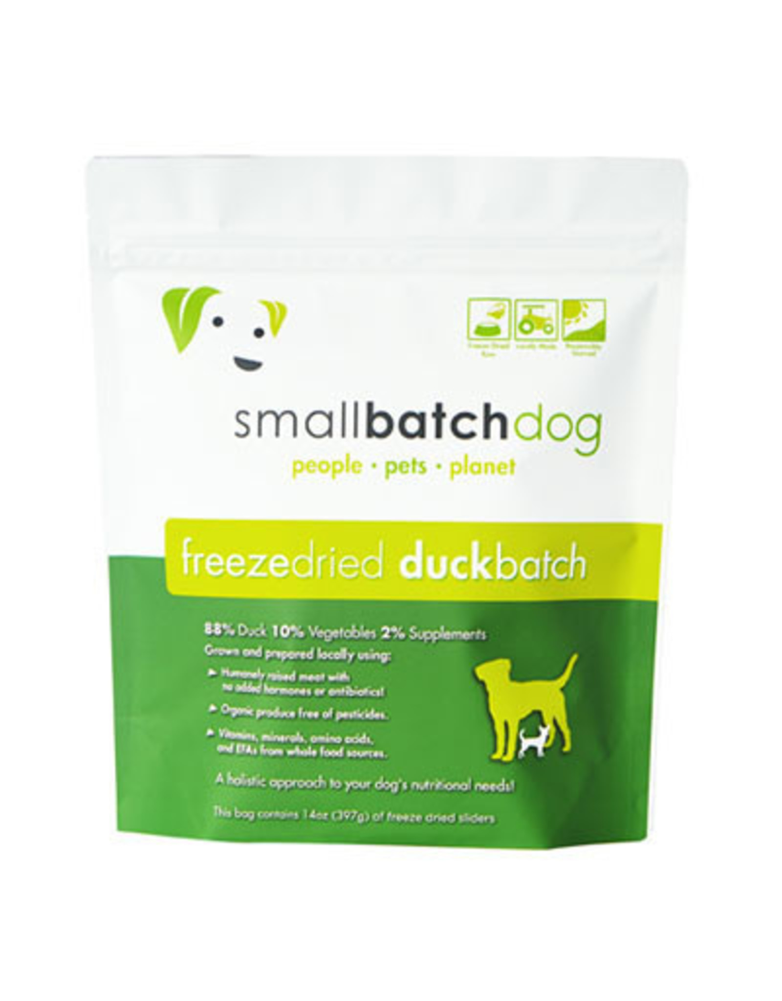 Smallbatch SMALLBATCH DOG FREEZE DRIED DUCK SLIDERS 14OZ