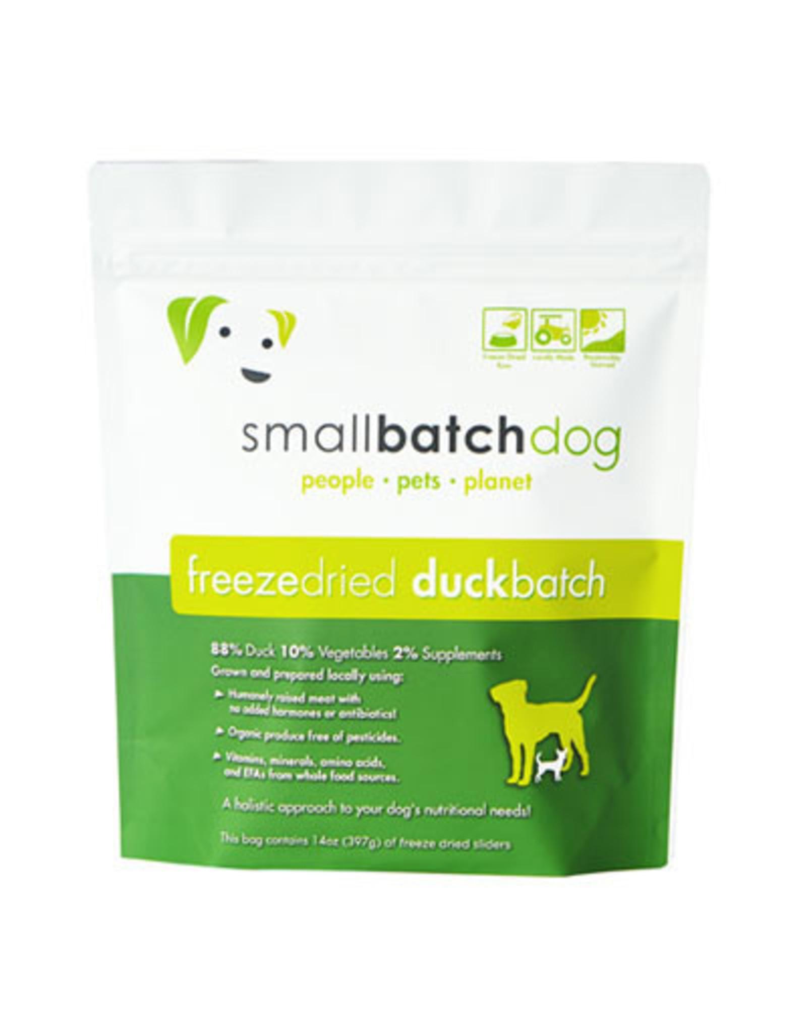 Smallbatch SMALLBATCH DOG FREEZE DRIED DUCK SLIDERS 14OZ