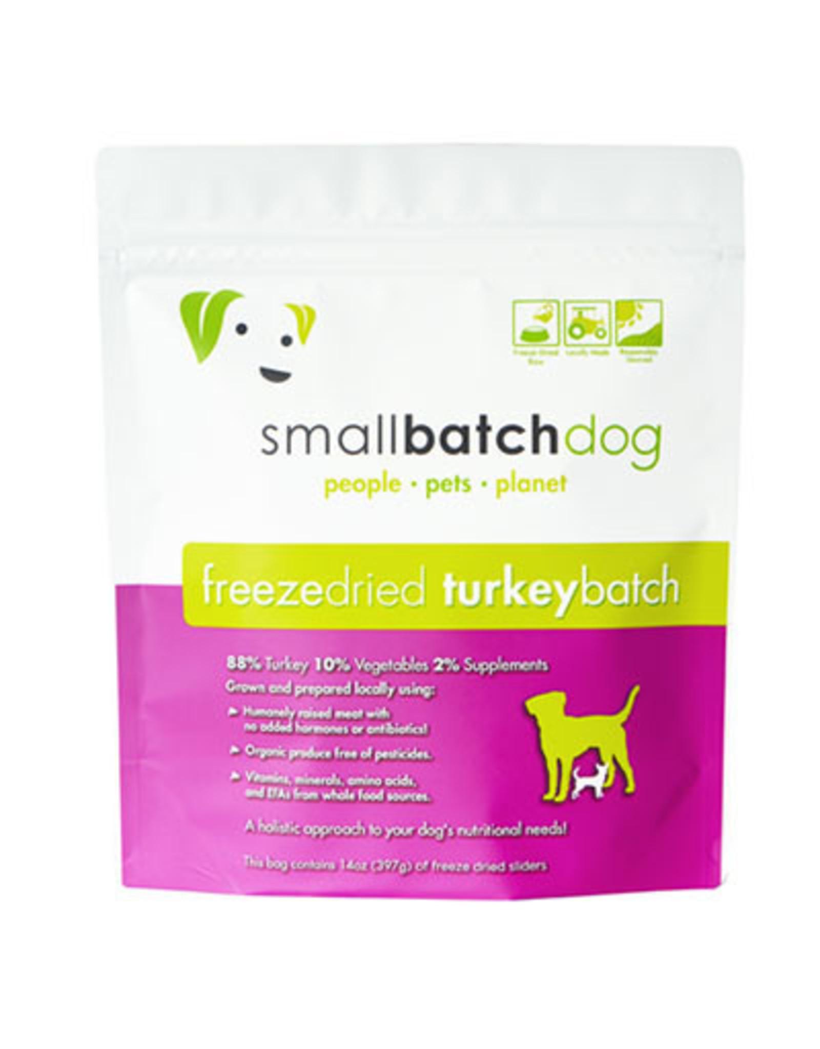 Smallbatch SMALLBATCH DOG FREEZE DRIED TURKEY SLIDERS 14OZ