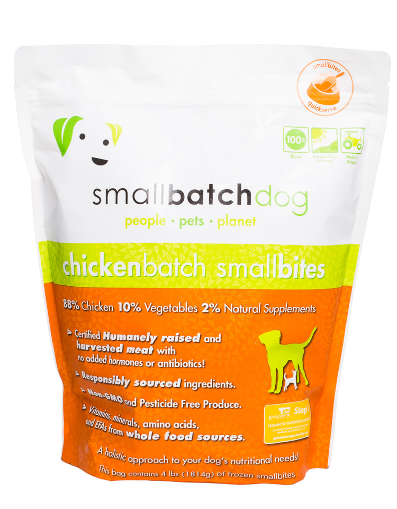 Smallbatch SMALLBATCH DOG FROZEN RAW CHICKEN BATCH