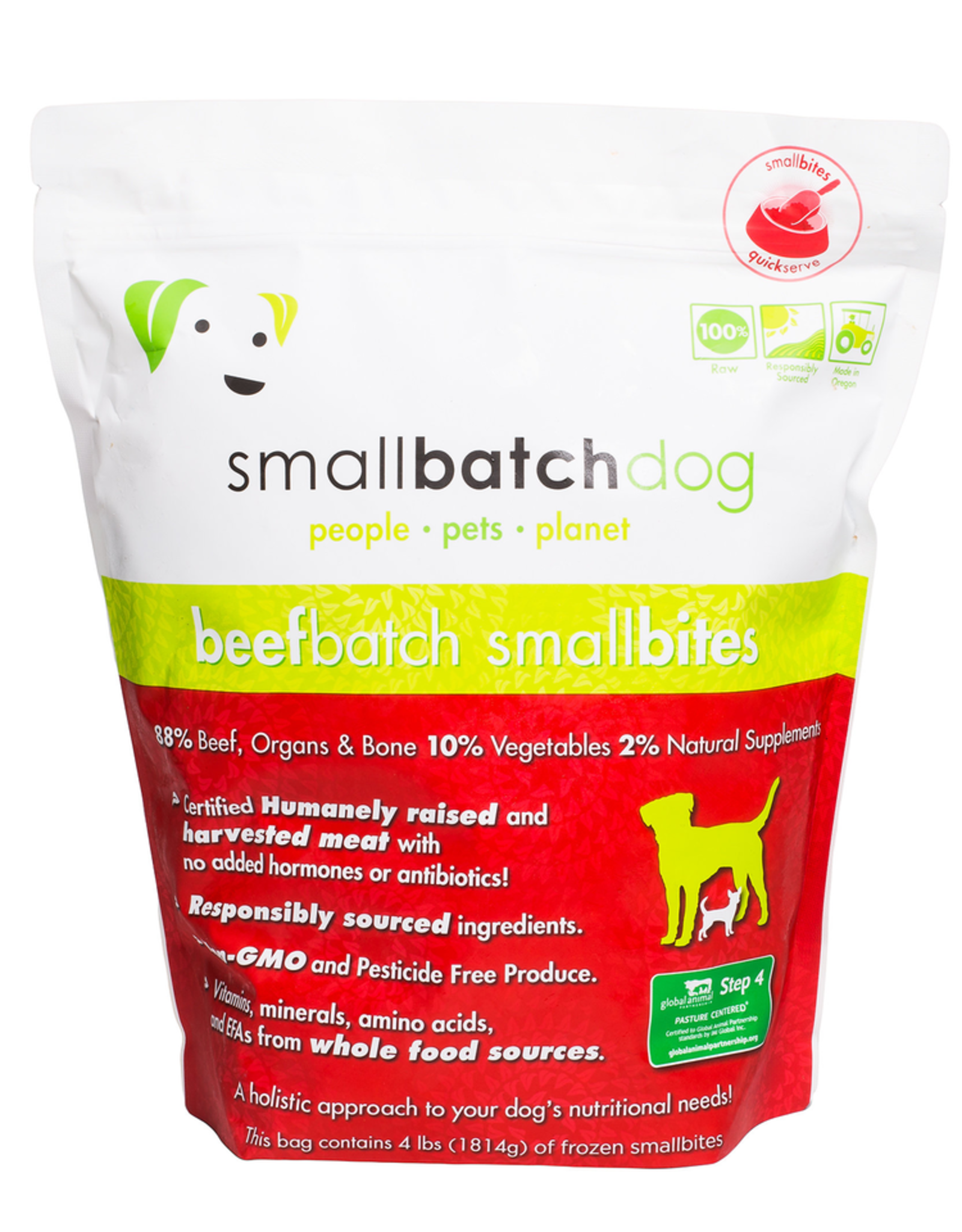 Smallbatch SMALLBATCH DOG FROZEN RAW BEEF BATCH