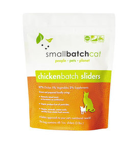 Smallbatch SMALLBATCH CAT FROZEN RAW CHICKEN BATCH 48-COUNT SLIDERS