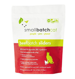 Smallbatch SMALLBATCH CAT FROZEN RAW BEEF BATCH 48-COUNT SLIDERS