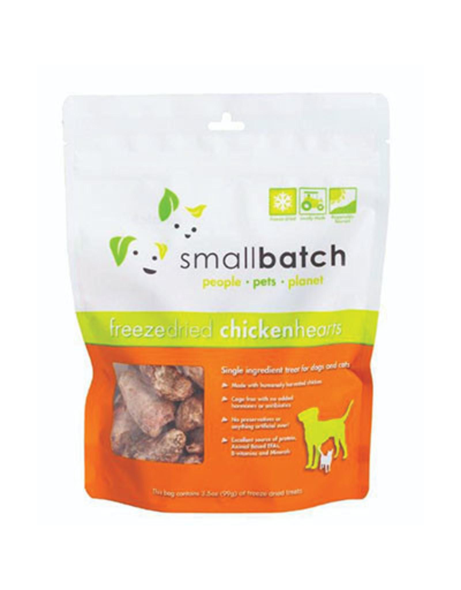 Smallbatch SMALLBATCH FREEZE DRIED CHICKEN HEARTS 3.5OZ