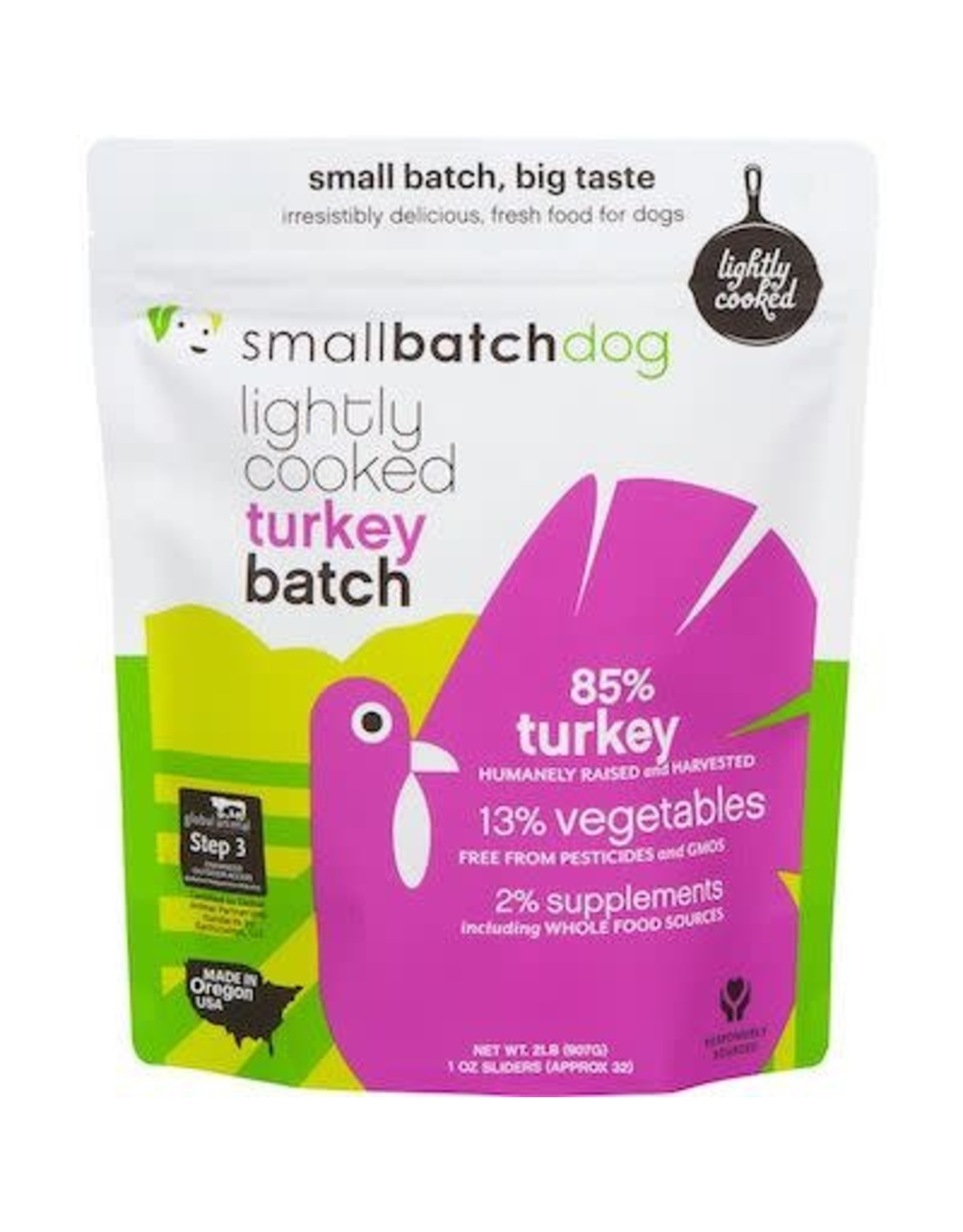 Smallbatch SMALLBATCH DOG FROZEN LIGHTLY COOKED TURKEY