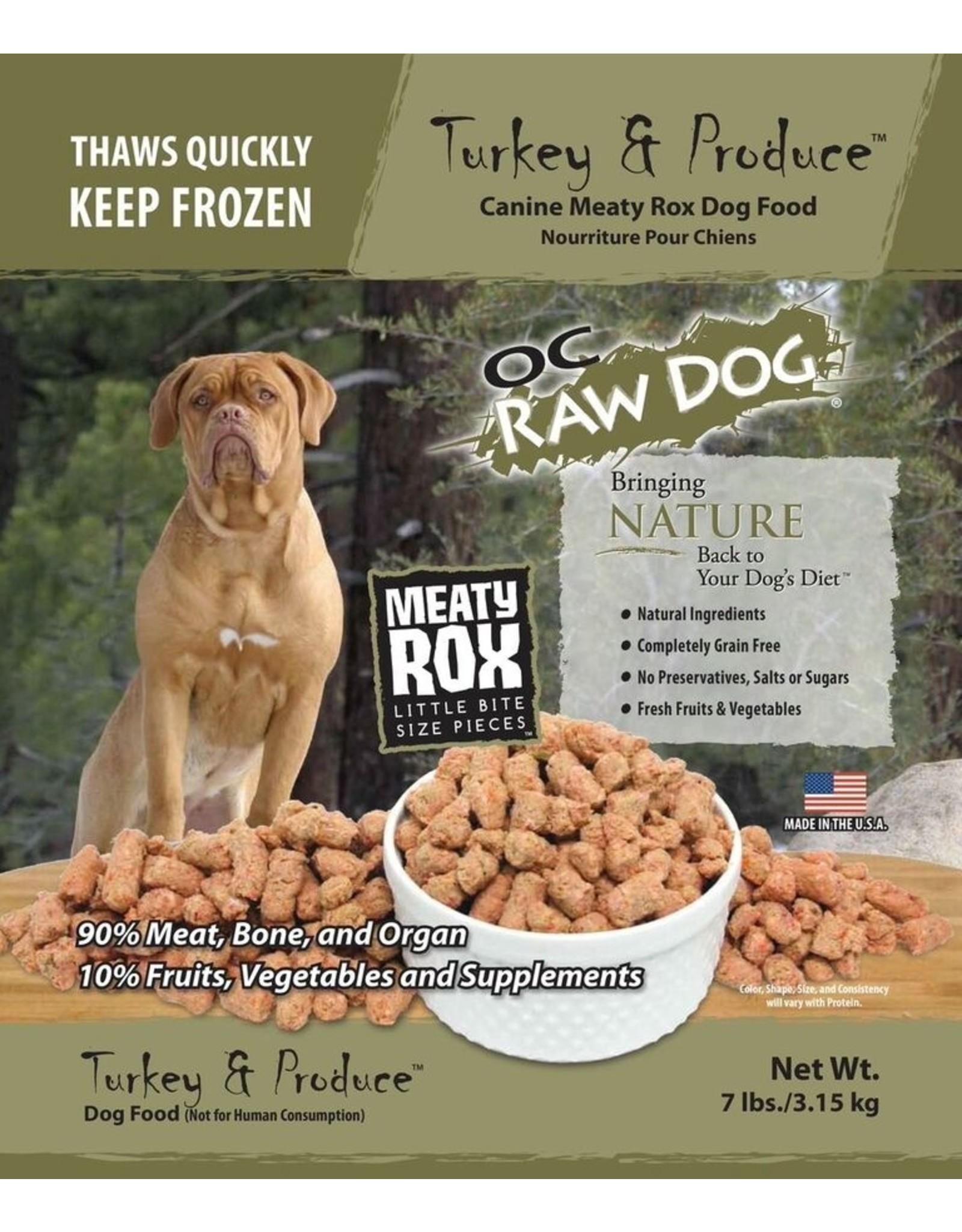 OC Raw Dog OC RAW DOG FROZEN RAW MEATY ROX TURKEY & PRODUCE
