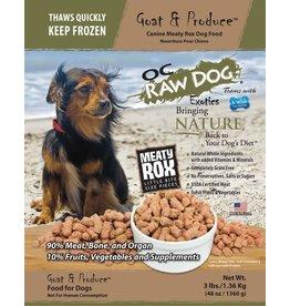 OC Raw Dog OC RAW DOG FROZEN RAW MEATY ROX GOAT & PRODUCE