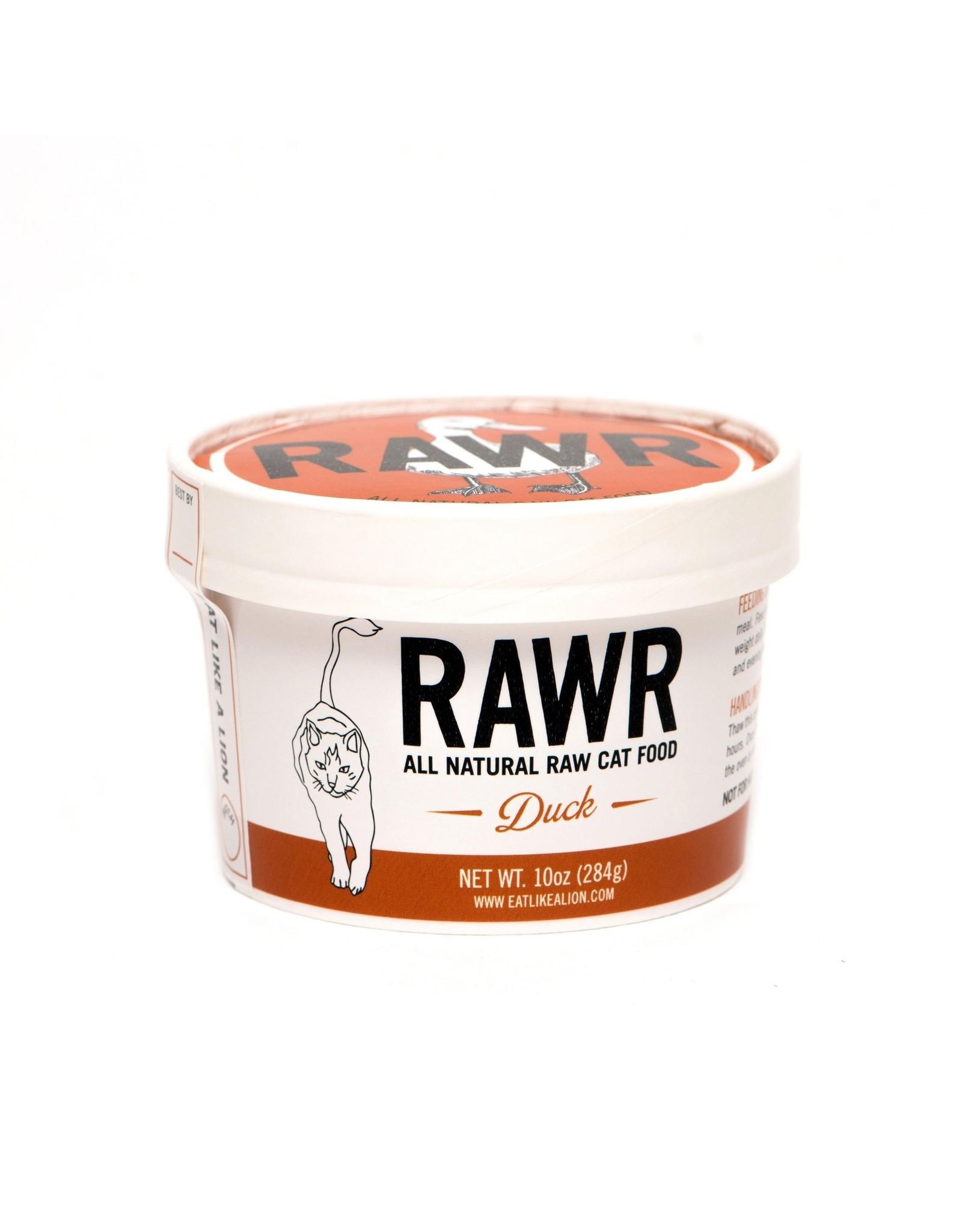 Rawr RAWR RAW FROZEN DUCK CAT FOOD 16OZ