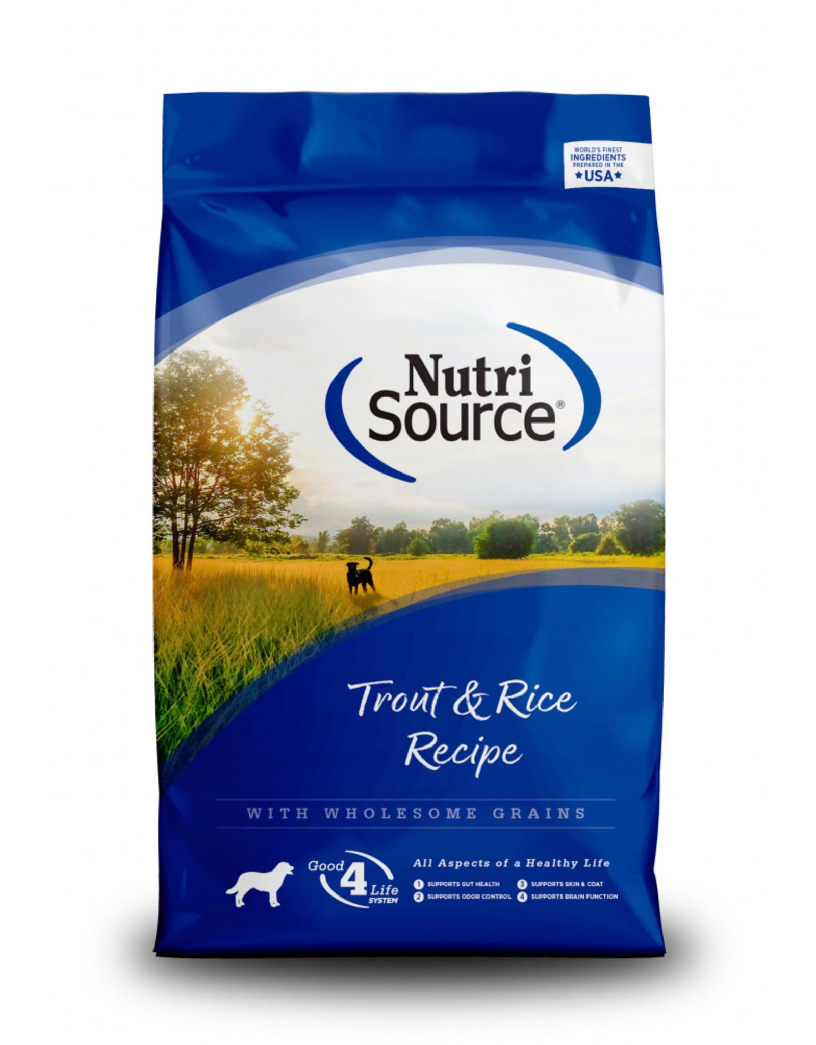 NutriSource Pet Foods NUTRISOURCE DOG TROUT & RICE RECIPE