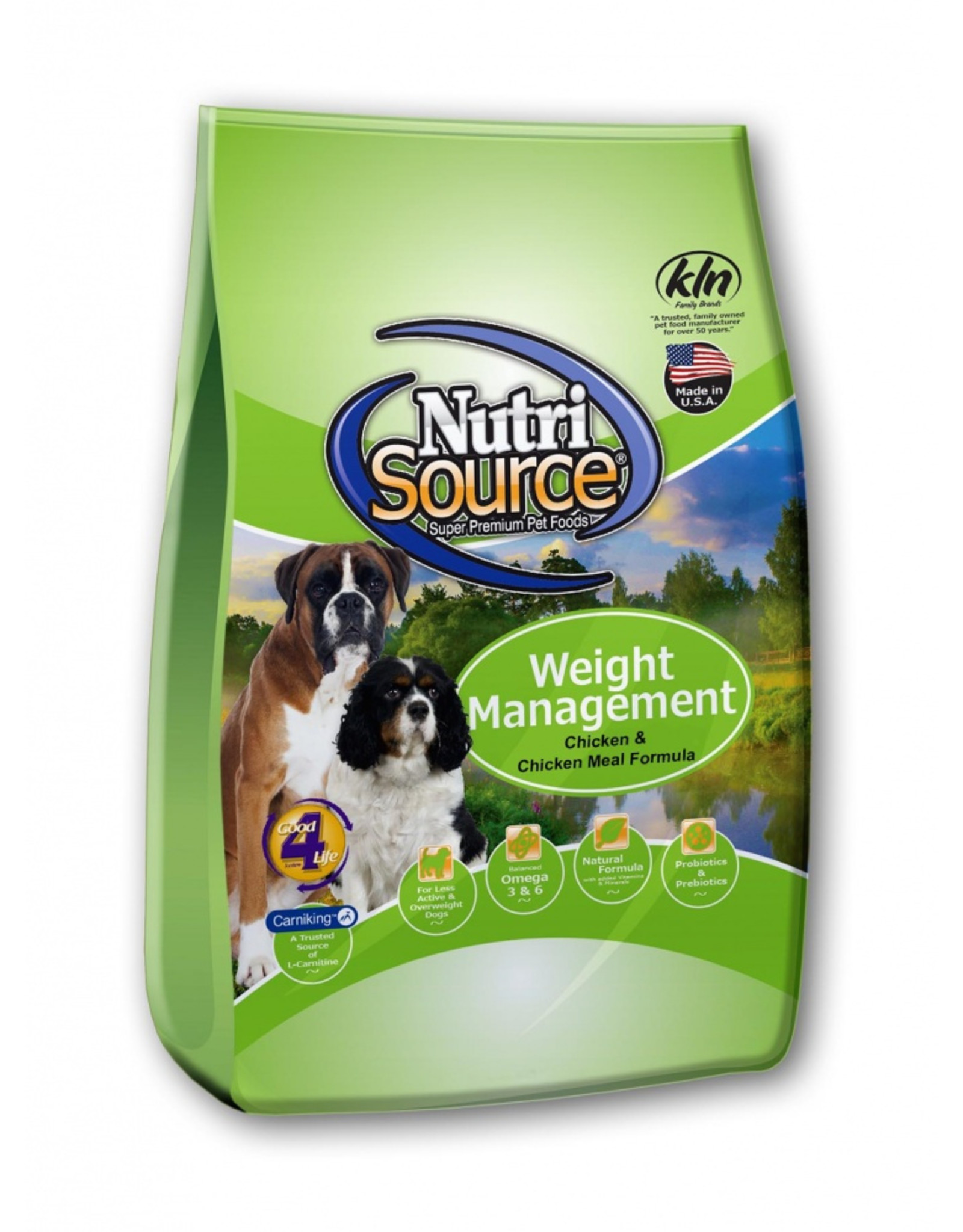 NutriSource Pet Foods NUTRISOURCE DOG WEIGHT MANAGEMENT CHICKEN & RICE FORMULA 30LB