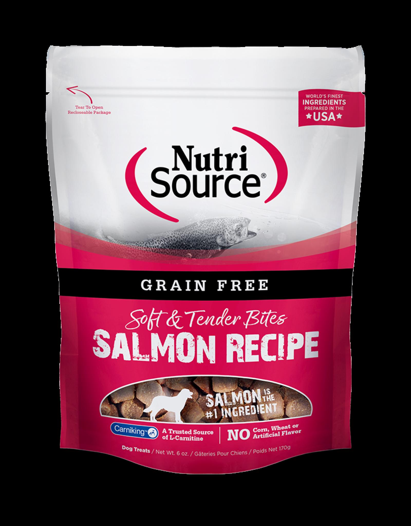 NutriSource Pet Foods NUTRISOURCE SOFT & MOIST BITES SALMON RECIPE 6OZ