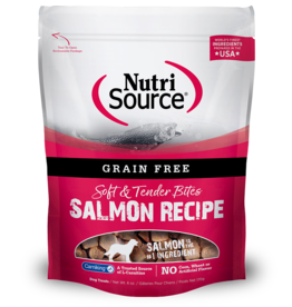 NutriSource Pet Foods NUTRISOURCE SOFT & TENDER BITES SALMON RECIPE 6OZ