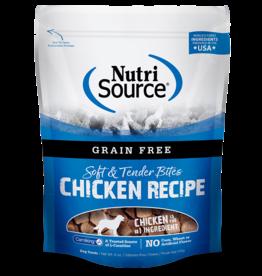 NutriSource Pet Foods NUTRISOURCE SOFT & MOIST BITES CHICKEN RECIPE 6OZ