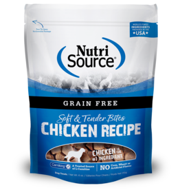 NutriSource Pet Foods NUTRISOURCE SOFT & TENDER BITES CHICKEN RECIPE 6OZ