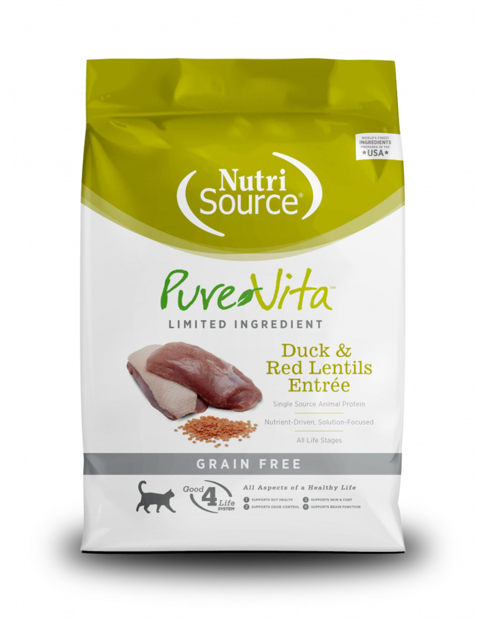 NutriSource Pet Foods PUREVITA CAT DUCK & RED LENTILS ENTRÉE