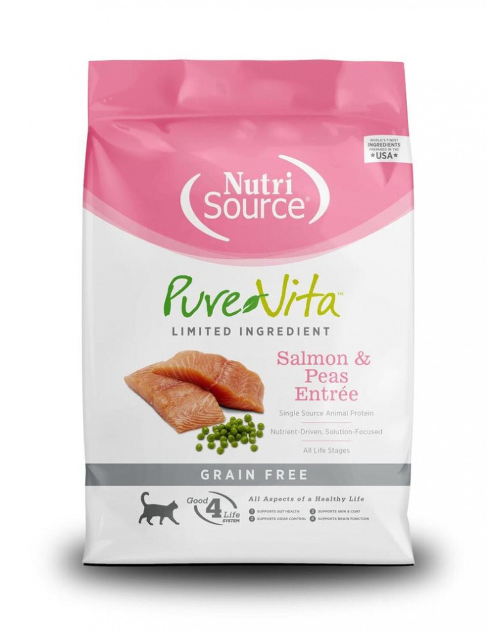 NutriSource Pet Foods PUREVITA CAT SALMON & PEAS ENTRÉE