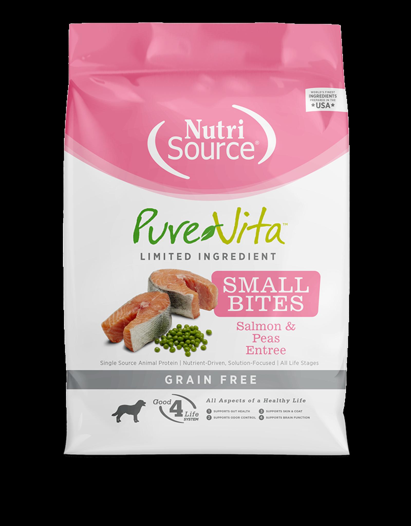 NutriSource Pet Foods PUREVITA DOG SMALL BITES SALMON & PEAS ENTRÉE