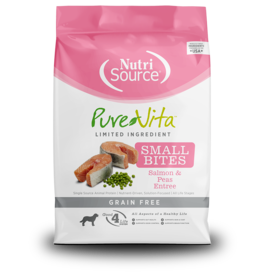 NutriSource Pet Foods PUREVITA DOG SMALL BITES SALMON & PEAS ENTRÉE