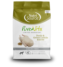 NutriSource Pet Foods PUREVITA DOG DUCK & GREEN LENTILS ENTRÉE