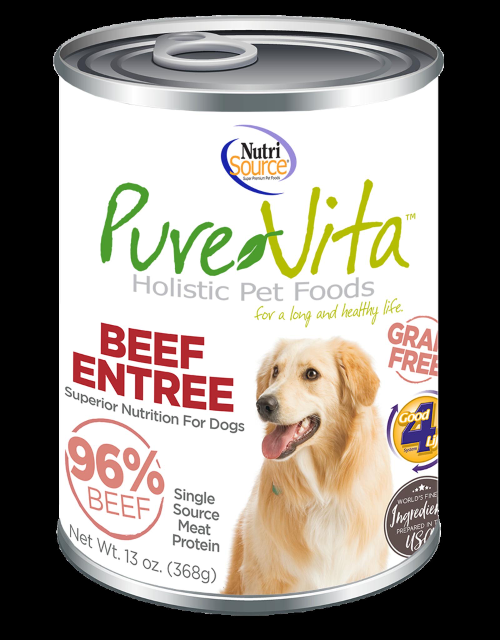 NutriSource Pet Foods PUREVITA DOG BEEF ENTRÉE 13OZ