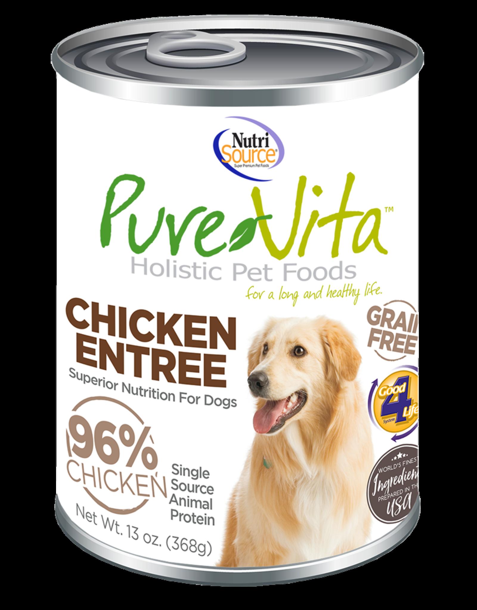 NutriSource Pet Foods PUREVITA DOG CHICKEN ENTRÉE 13OZ