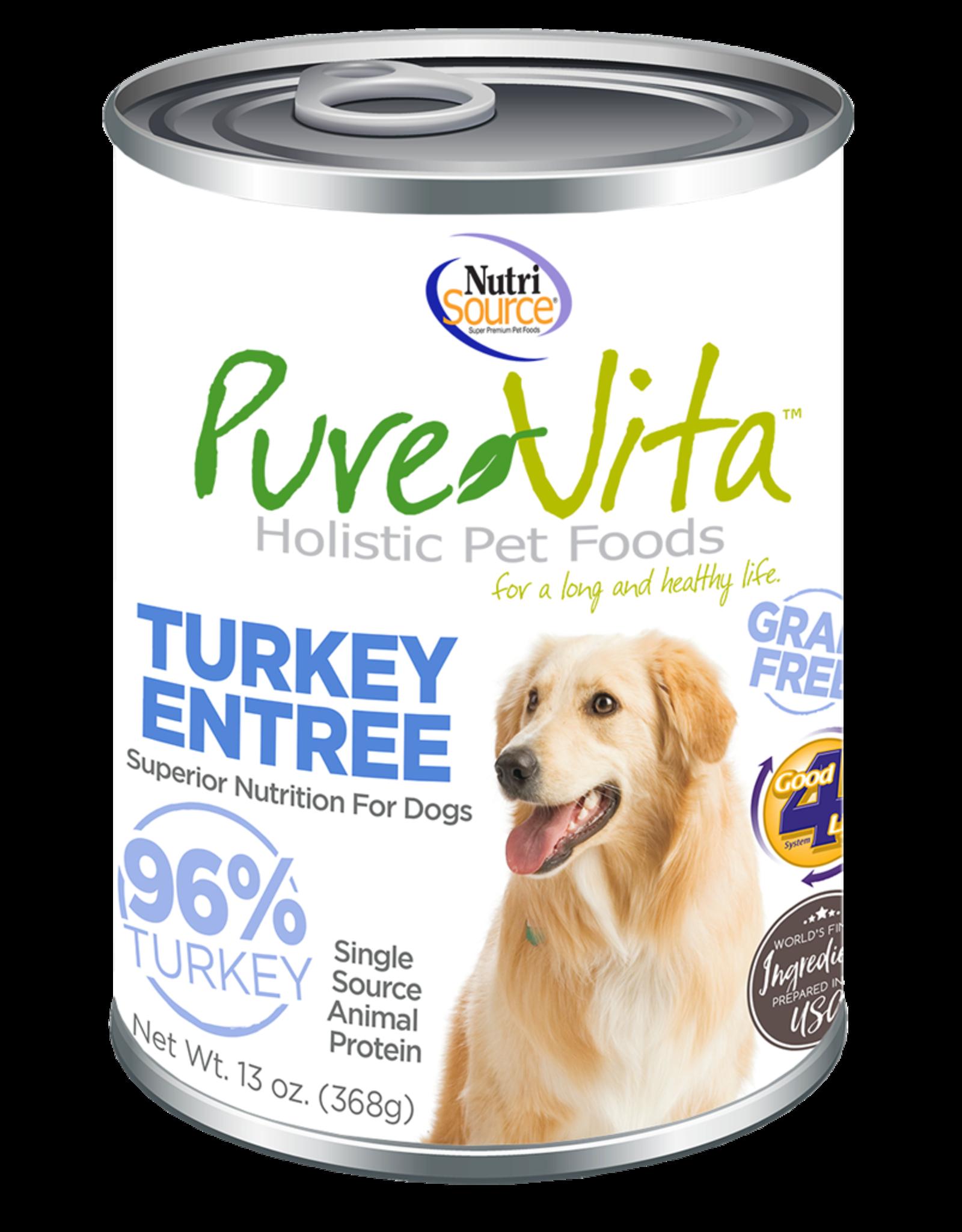 NutriSource Pet Foods PUREVITA DOG TURKEY ENTRÉE 13OZ