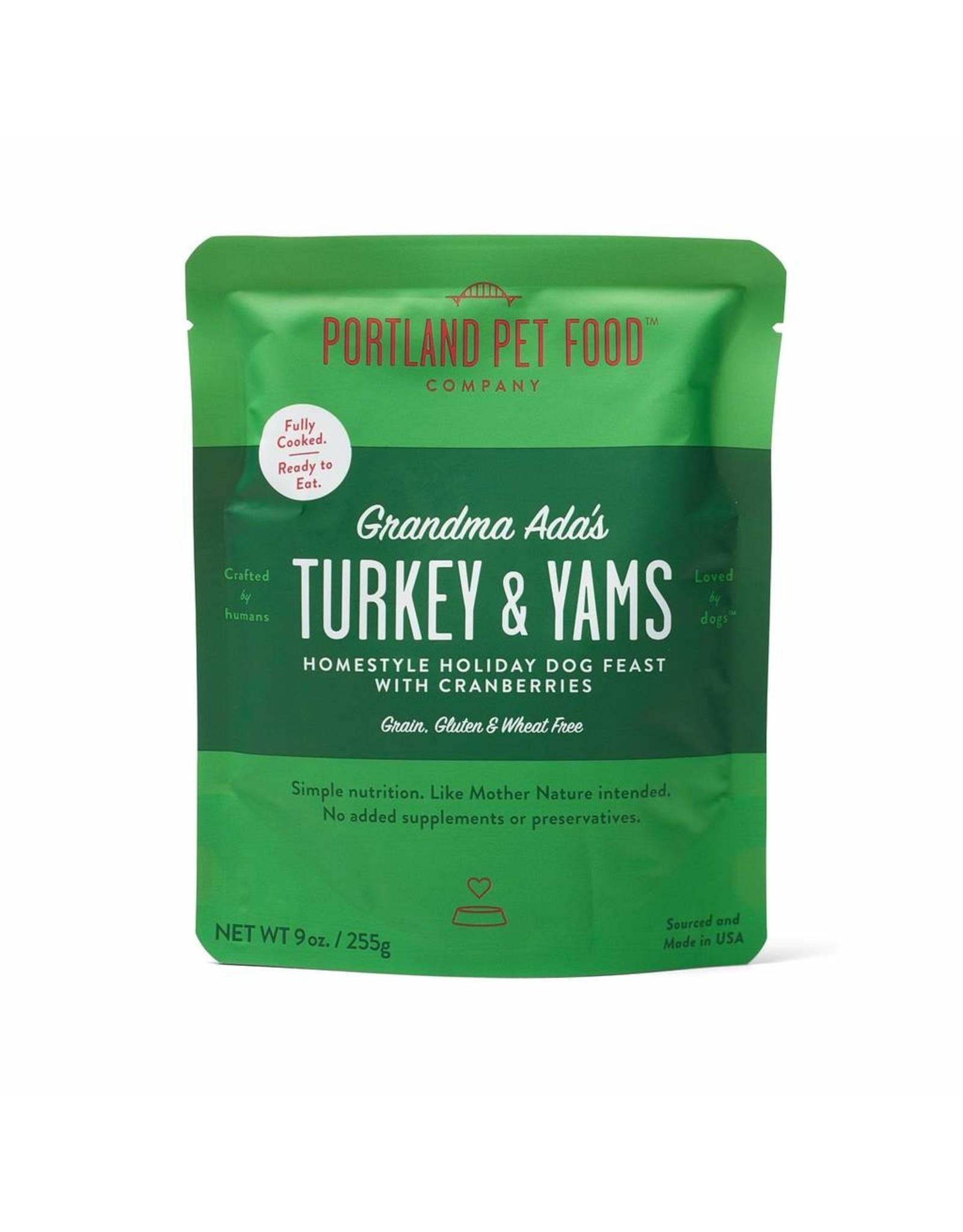 Portland Pet Food Company PORTLAND PET FOOD DOG GRANDMA ADA'S TURKEY & YAMS 9OZ