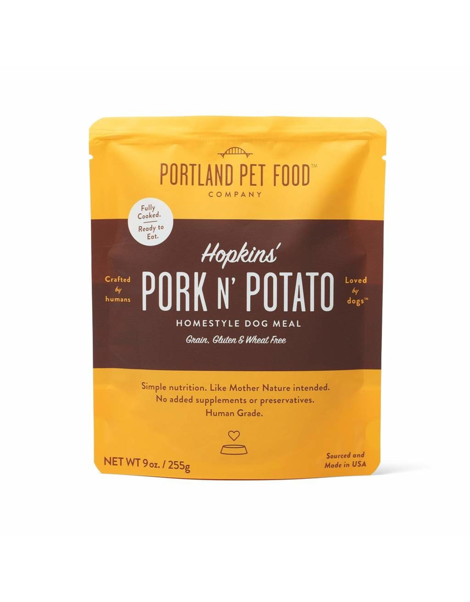 Portland Pet Food Company PORTLAND PET FOOD DOG HOPKIN'S PORK N' POTATO 9OZ