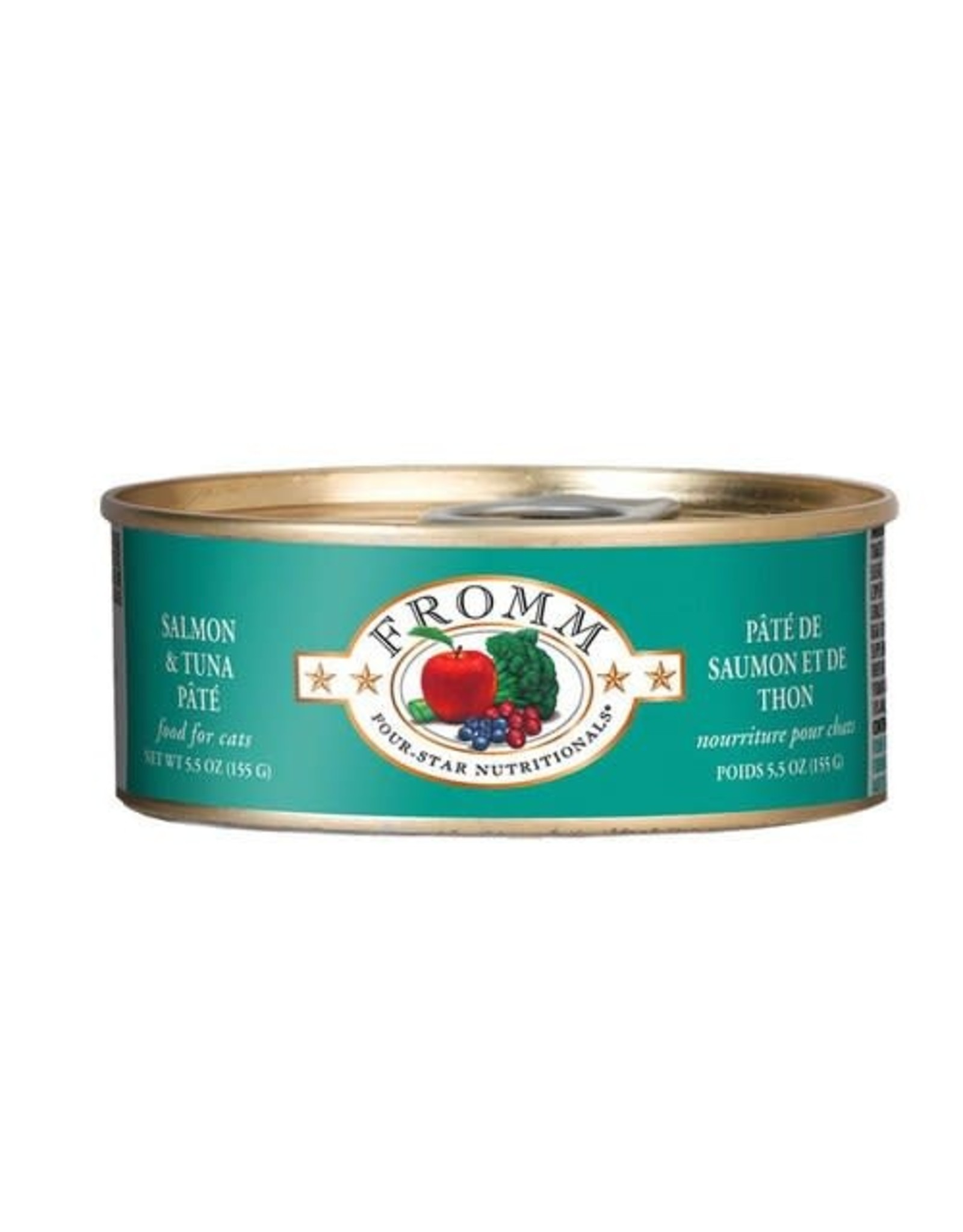 Fromm Family Pet Food FROMM CAT FOUR-STAR NUTRITIONALS SALMON & TUNA PÂTÉ 5.5OZ