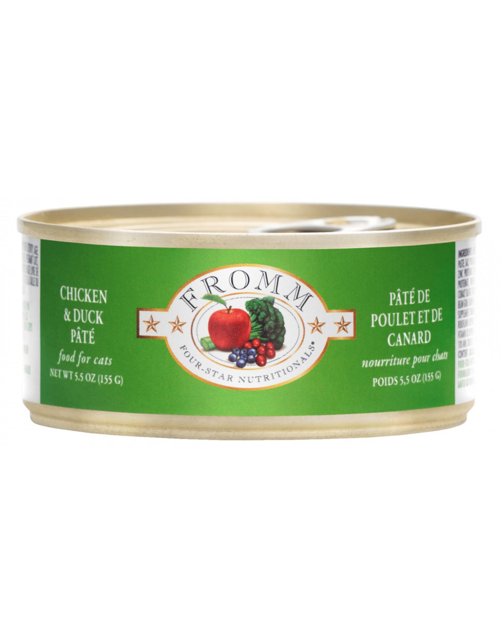 Fromm Family Pet Food FROMM CAT FOUR-STAR NUTRITIONALS CHICKEN & DUCK PÂTÉ 5.5OZ