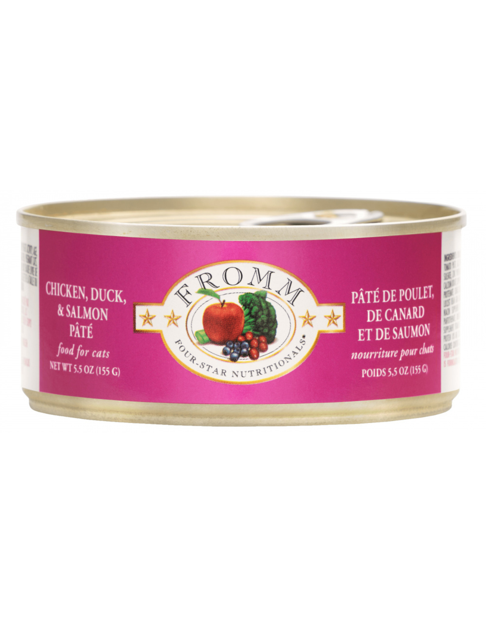 Fromm Family Pet Food FROMM CAT FOUR-STAR NUTRITIONALS CHICKEN, DUCK & SALMON PÂTÉ 5.5OZ