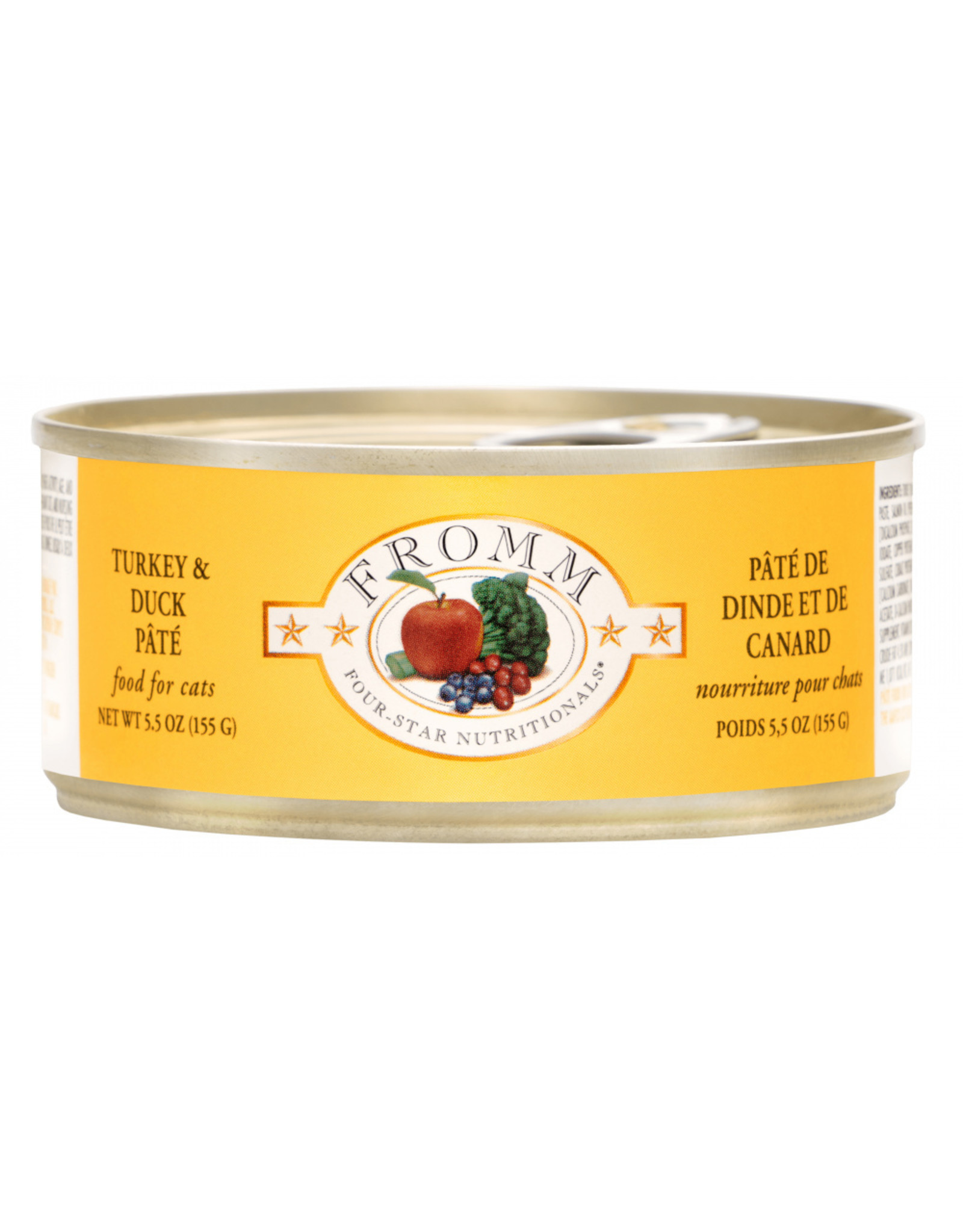 Fromm Family Pet Food FROMM CAT FOUR-STAR NUTRITIONALS TURKEY & DUCK PÂTÉ 5.5OZ
