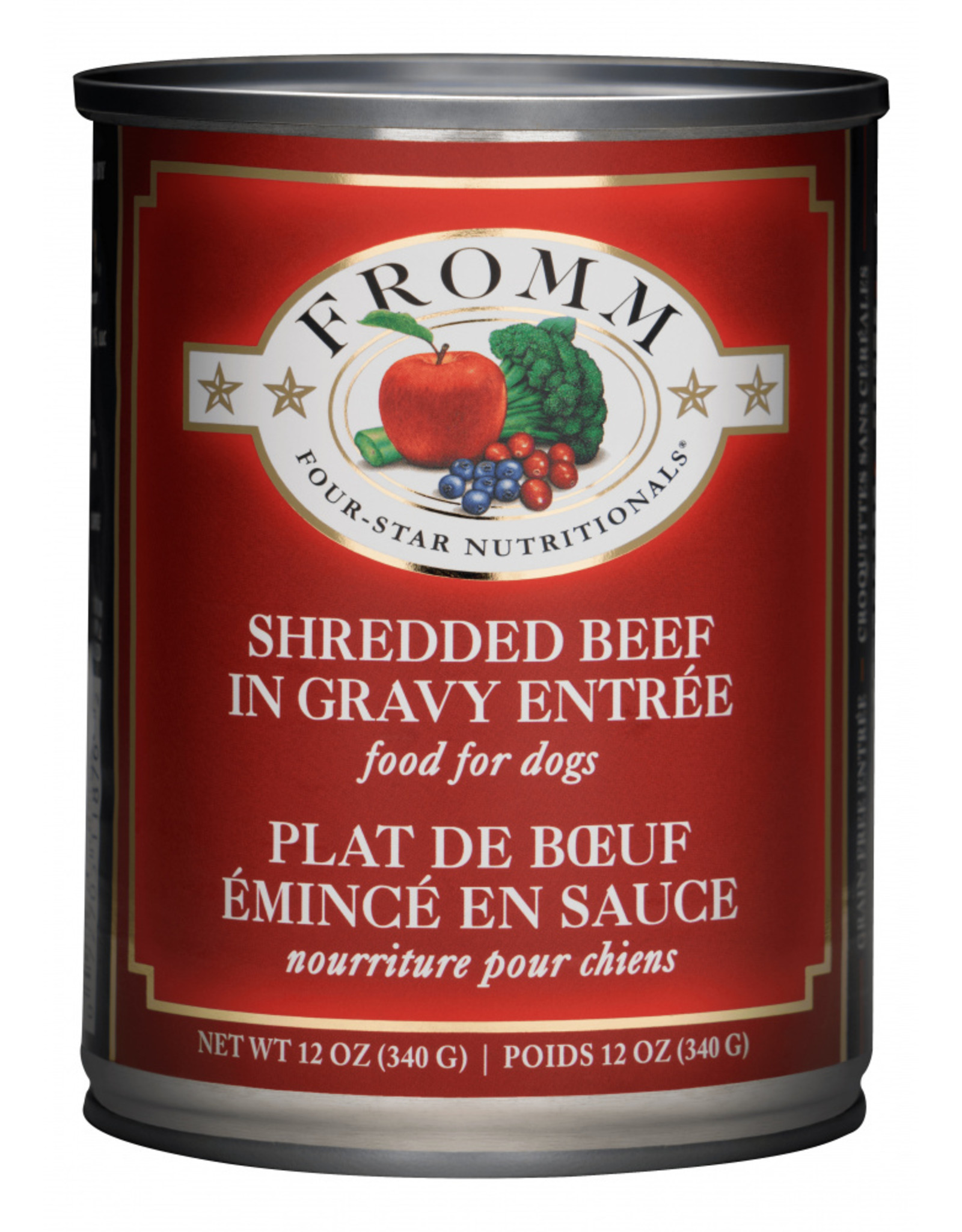 Fromm Family Pet Food FROMM DOG FOUR-STAR NUTRITIONALS SHREDDED BEEF IN GRAVY ENTRÉE 12.2OZ